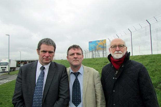 Councillors Ryk Downes, Sandy Lay and Colin Campbell