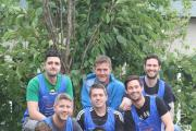 Addingham man Ryan McShane (front centre) and Mark Benson, Tim Lynch, Joe Bonner, Colin Harper, Gary Paton, Mark McShane, Garry Tierney and Sean Tierney attempt to walk the Three National Peaks to raise money for MND (9821337)