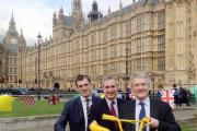 Otley MP Greg Mulholland (Lib Dem), centre, promoting the Tour de France in Westminster in June with fellow local MPs Julian Smith (Cons, Skipton and Ripon), left, and Andrew Jones (Cons, Harrogate and Knaresborough)