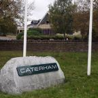 Ilkley Gazette: The gates at the Caterham factory in Leafield remain closed for a second day
