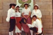 Staff at the Green Frog restaurant in Ilkley in the 1980s
