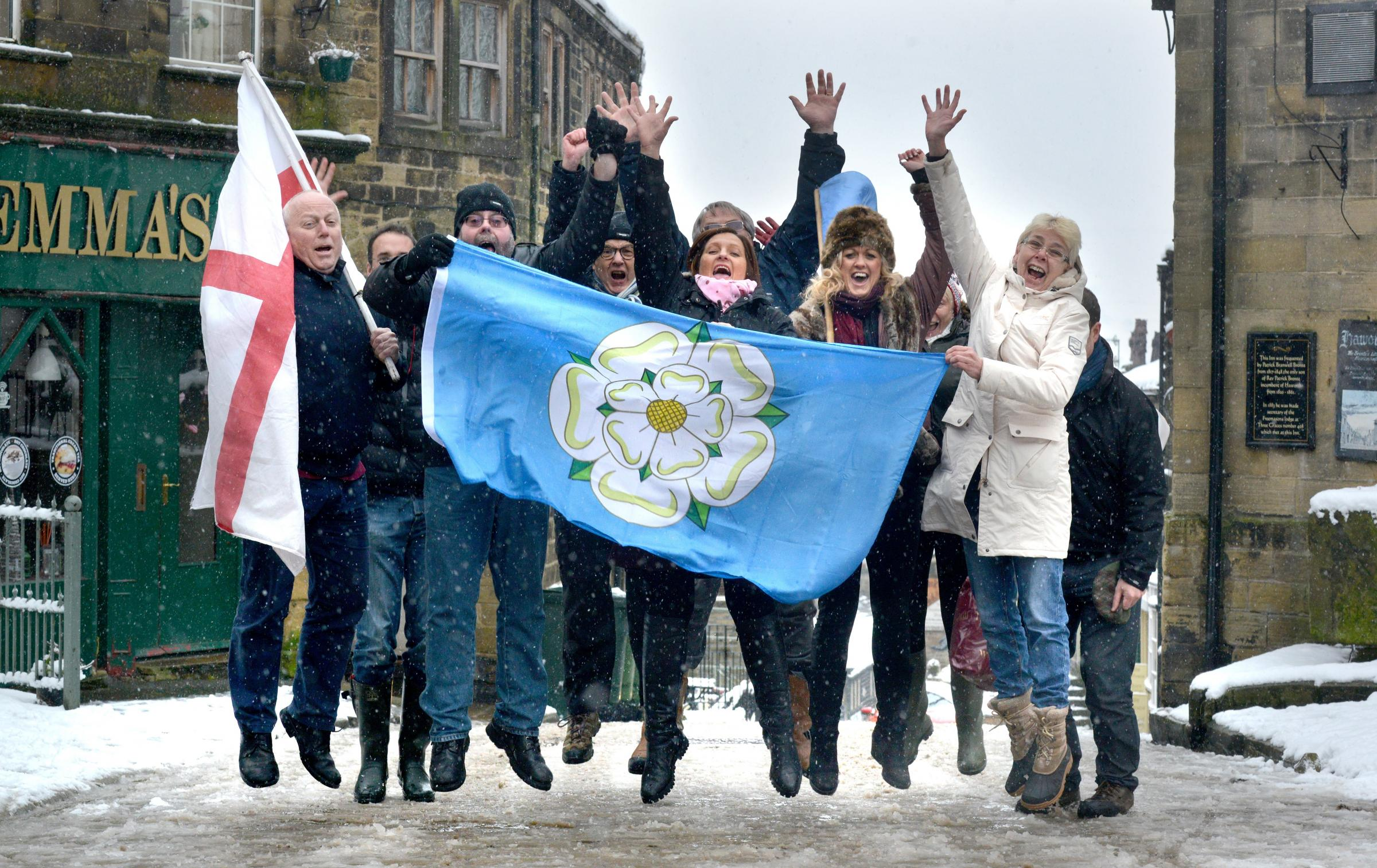 In snowy January Haworth locals were delighted to learn the village would be on the Tour de Yorkshire for 2015
