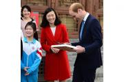 The Duke of Cambridge during a visit to the Shijia Hutong Museum in Beijing and meets charities supporting vulnerable young Chinese people