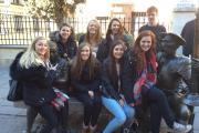 Year 12 students from Prince Henry's Grammar School during their Madrid visit.