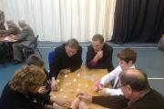 Bishop Toby Howarth joins grandparents and children at the Westville House School science event