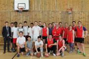 Post 16 students at IGS who took on their teachers with a charity basketball match