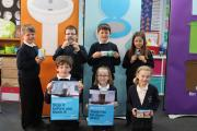 Queensway Primary School pupils take part in a Yorkshire Water campaign
