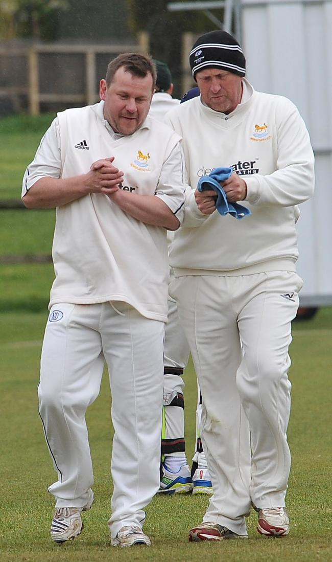 Gareth Lee, left, took 5-31 and scored 117 not out, including six sixes and 16 fours, for Adwalton in their victory over Heckmondwike & Carlinghow