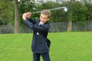 Looking forward to teeing off - Kyran Taylor, the first pupil to sign up for Prince Henry's Grammar School's new golf programme.
