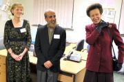 Home from Hospital volunteer and Ilkley resident Polly Hosking, is pictured far left when she met HRH the Princess Royal on a visit to the Carers' Resource Shipley centre in January