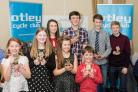 The Young People's Gold Award winners at Otley Cycle Club's annual presentation evening.