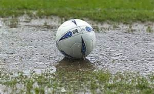 After call-offs due to snow and ice, waterlogged pitches are now the main worry