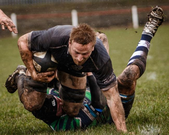 Declan Dunn scored a try for Otley. Picture: John Ashton