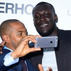 Ilkley Gazette: Stormzy and Noel Clarke grab a selfie at the world premiere of Brotherhood