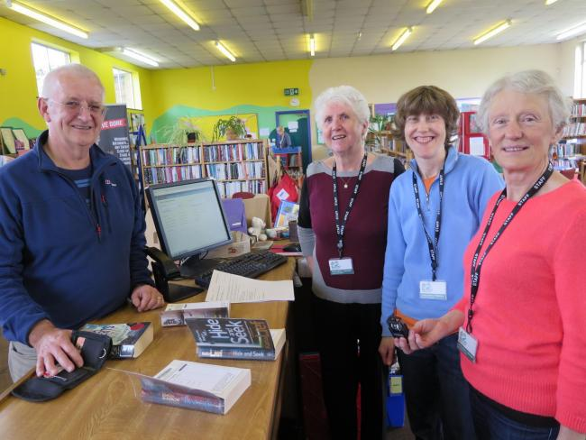 Pictured are Cllr Janet Souyave, Abi Skerrey and Jackie Stoddart who welcomed people to Burley Library on Saturday