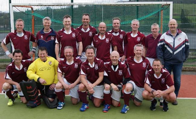 Ben Rhydding over-50s men, who have reached the final of the National Veterans' Masters Cup against reading at Lee Valley. Back Row: David Cutter, Rob Jackson, Neill Moore, Mark French, Ian Cussons, Howard Pickard, Rob Ward, Hugh Lambert, Robin Snook.