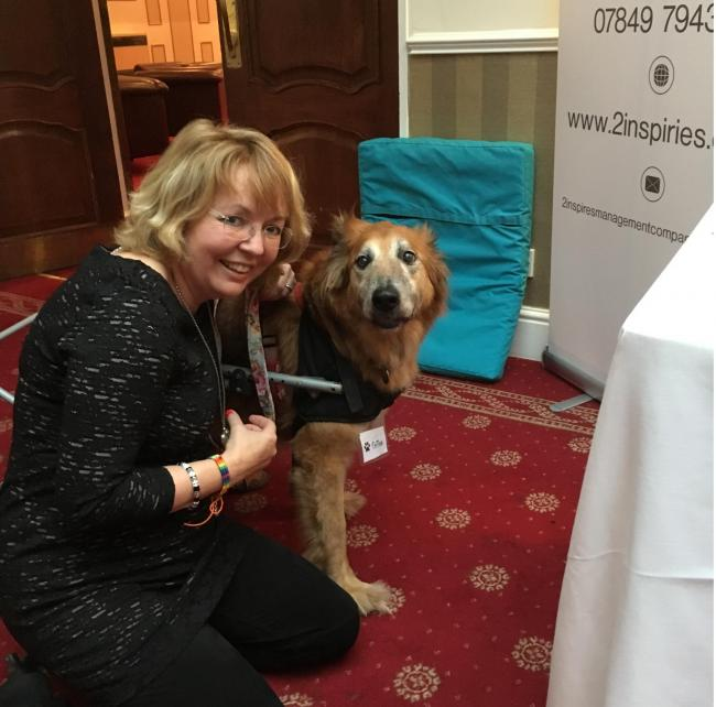 Nicky Whitehead made a new canine friend, Toffee, at the animal conference held at The Craiglands Hotel in Ilkley