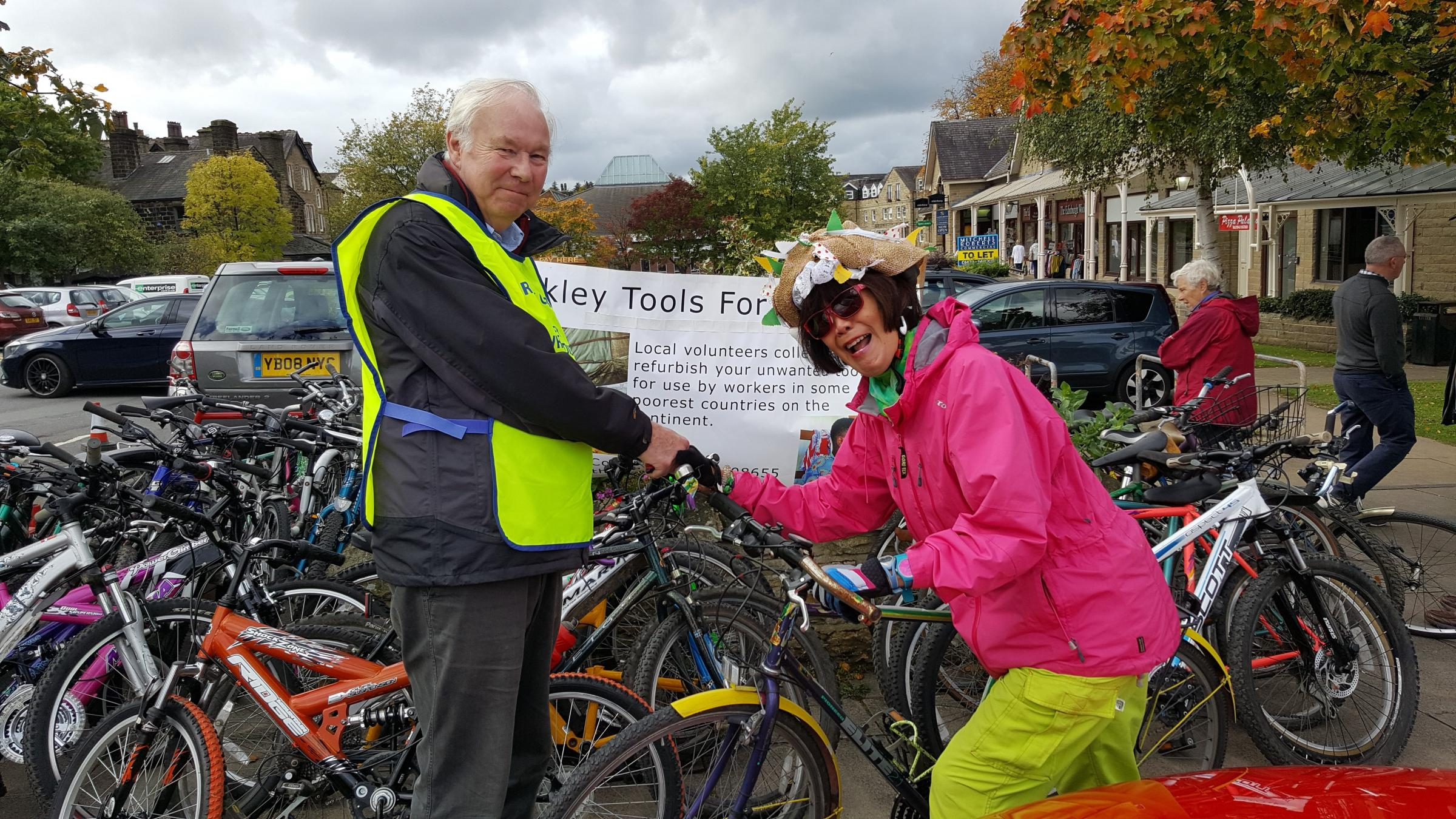 Moo Ping Vivienne Boey donates her bike at Ilkley recycle day on Saturday
