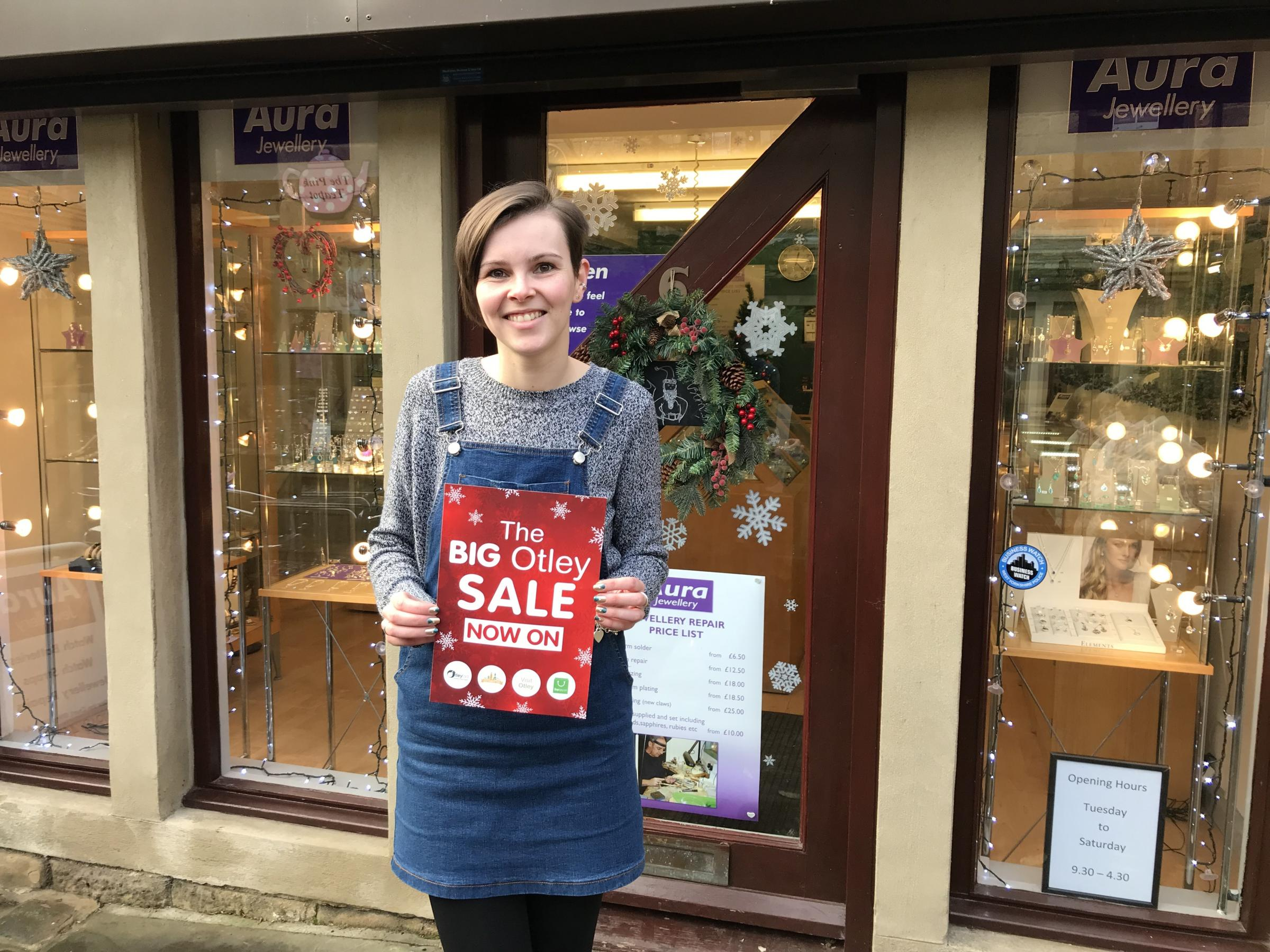 Preparing for Otley's big January sale - Abbie Stringwell from Aura Jewellery