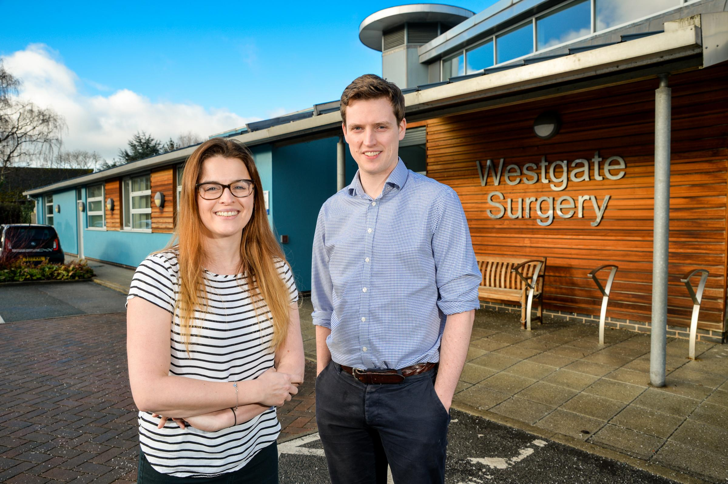 Doctors Laura McCarthy and Ben Hammersley at Westgate Surgery, Otley