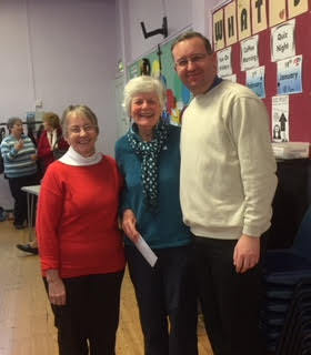 Pictured left to right are Ann Sanderson, of Salem, Susan Collins, of Burley Dementia Action Group and the Rev Jason McCullough