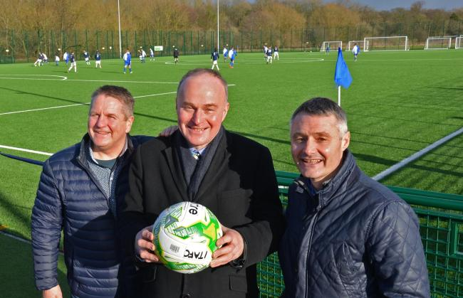 Ilkley Town chairman Richard Giles (right) is delighted with the new additions to his side's management team