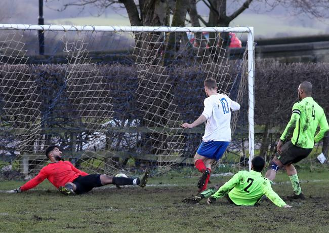 Tom Fleming scoring for his previous club Pool - Picture: Alex Daniel Photography