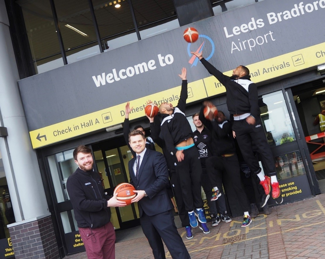 Leeds Bradford Airport has agreed to be a sponsor of the basketball club Leeds Force