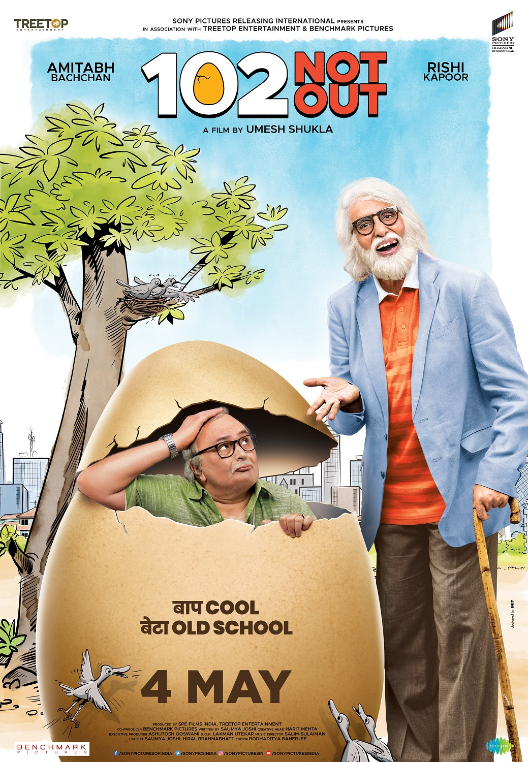 '102 NOT OUT' featuring Amitabh Bachchan and Rishi Kapoor in cinemas on 4th May 2018