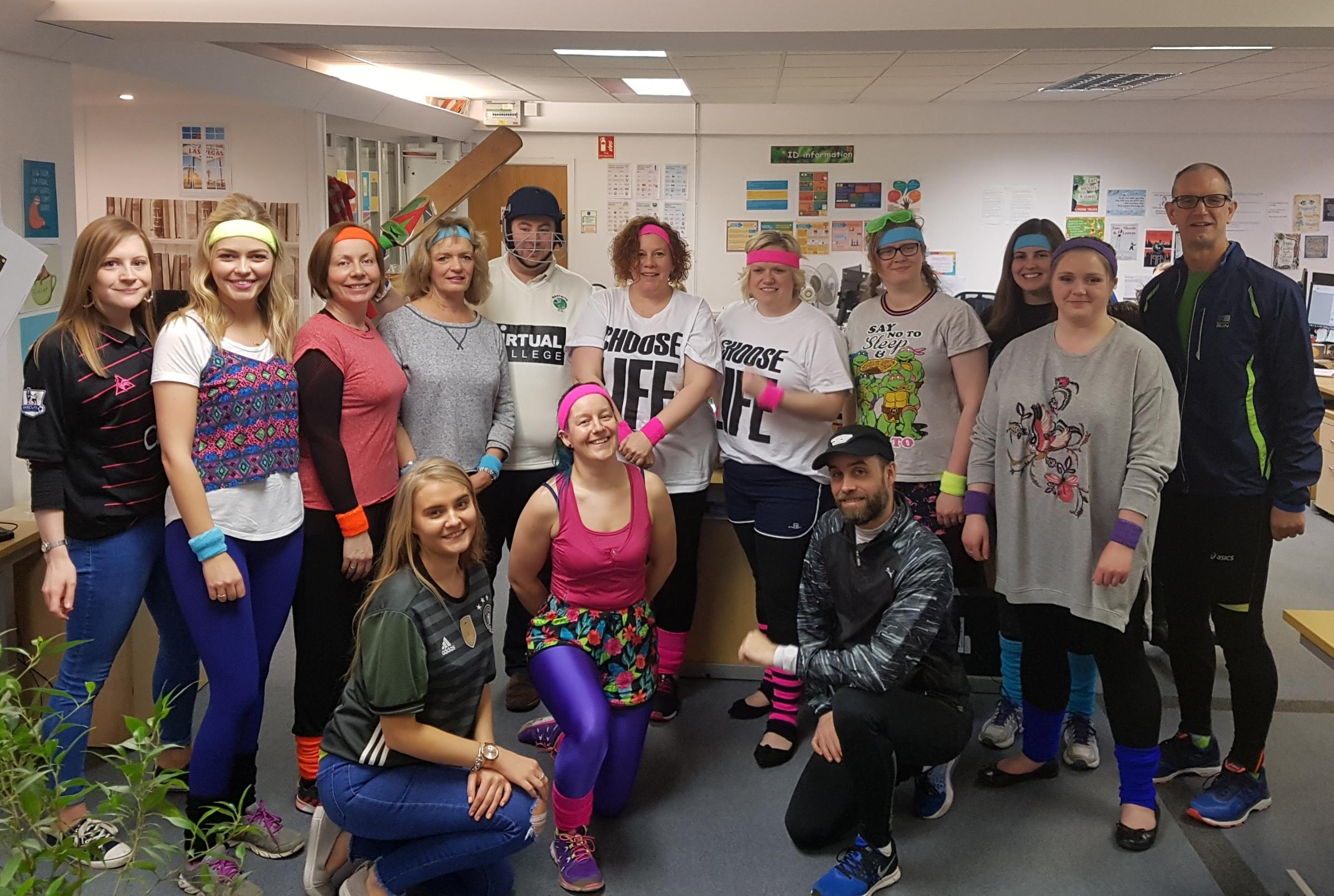 Virtual College staff get sporty for Sports Relief