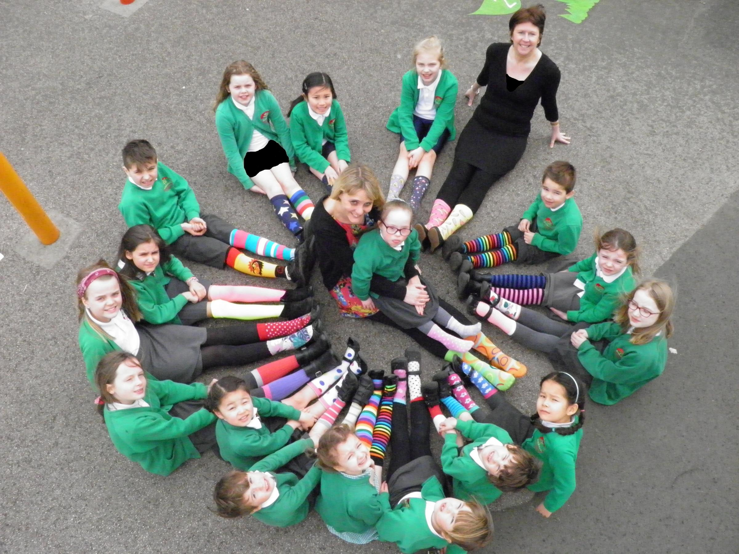 Pupils and teachers at Ashlands Primary School in Ilkley took part in World Down Syndrome Day on March 21