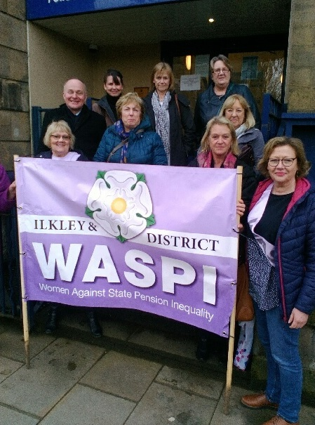 WASPI campaigners with John Grogan.