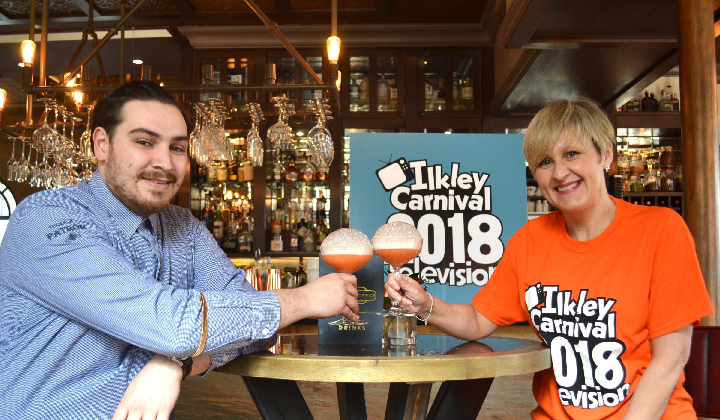 L-R Ticket Office general manager Lawrence Doyle and Ilkley Carnival committee member Suzanne Watson
