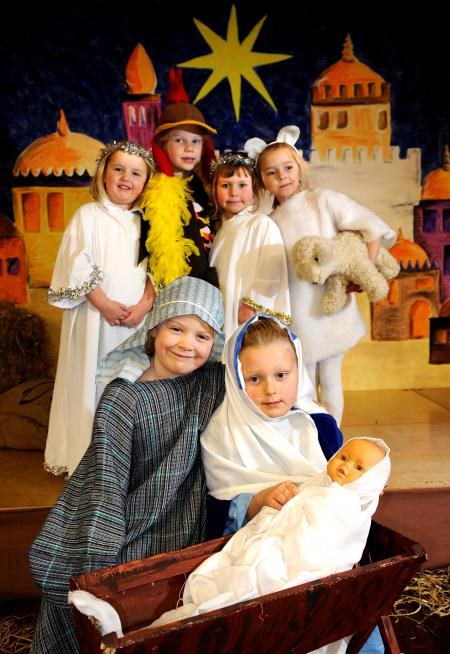 Stable Happenings was the name of the Christmas production at Moorfield School, Ilkley. Lauren Leech and Catherine Chapman were Mary and Joseph.