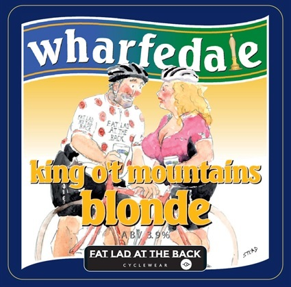 Wharfedale brewery have created a 'King o't Mountains' blonde ale in association with Ilkley-based cycle brand Fat Lad at the Back