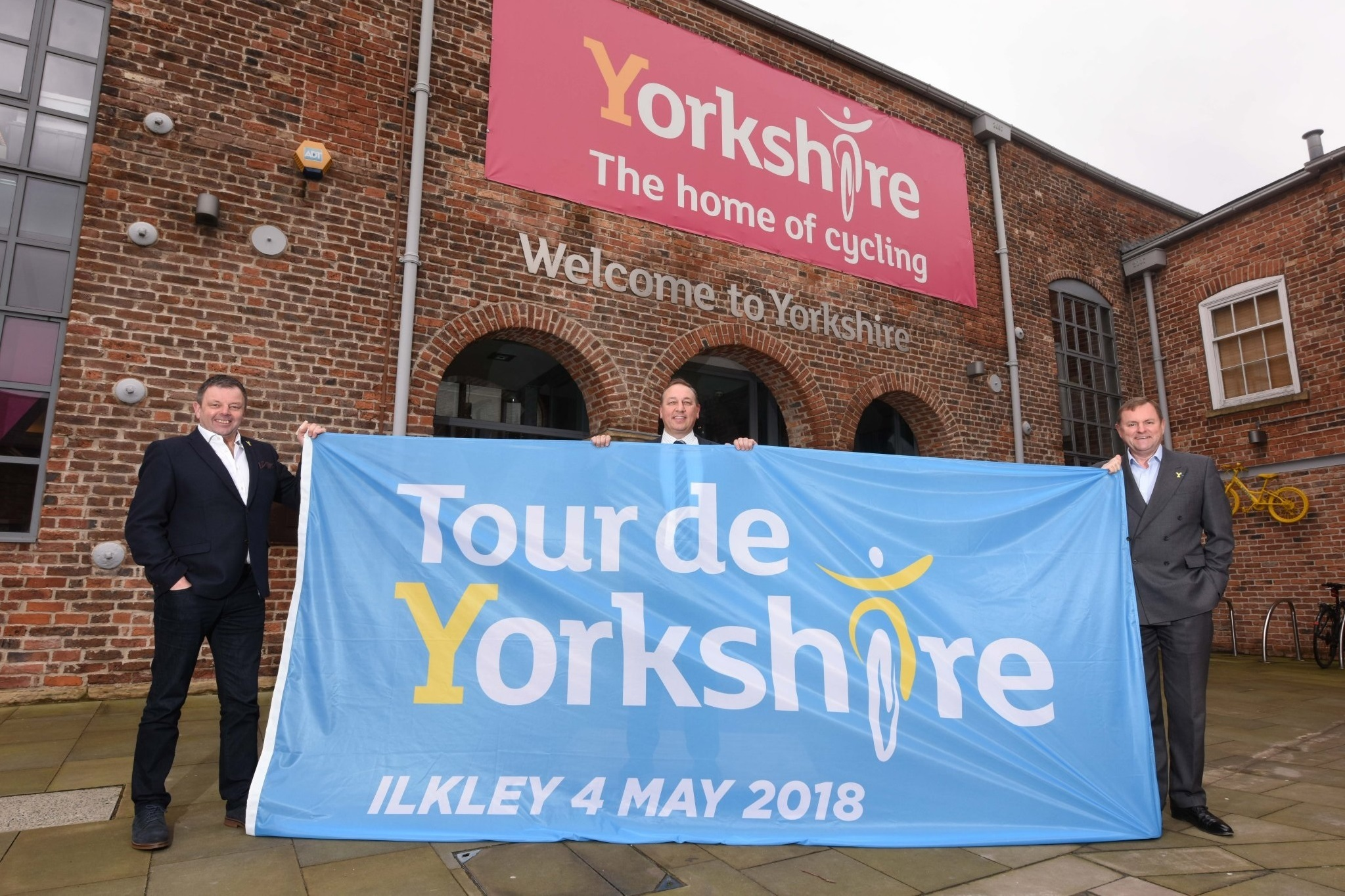 The Ilkley flag which will be raised at 1pm on April 19