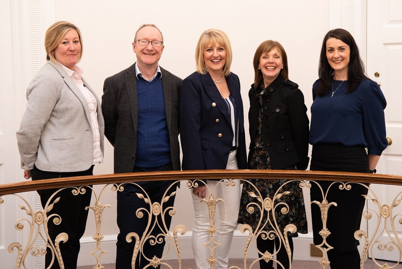 Ilkley Business Forum members are pictured at Denton Hall. Left to right: Julia Forrester, Treasurer, Ian White, Communications Officer, Helen Rhodes, Chairperson, Liz Scott, Membership Co-ordinator and Diane Broadhead, Secretary