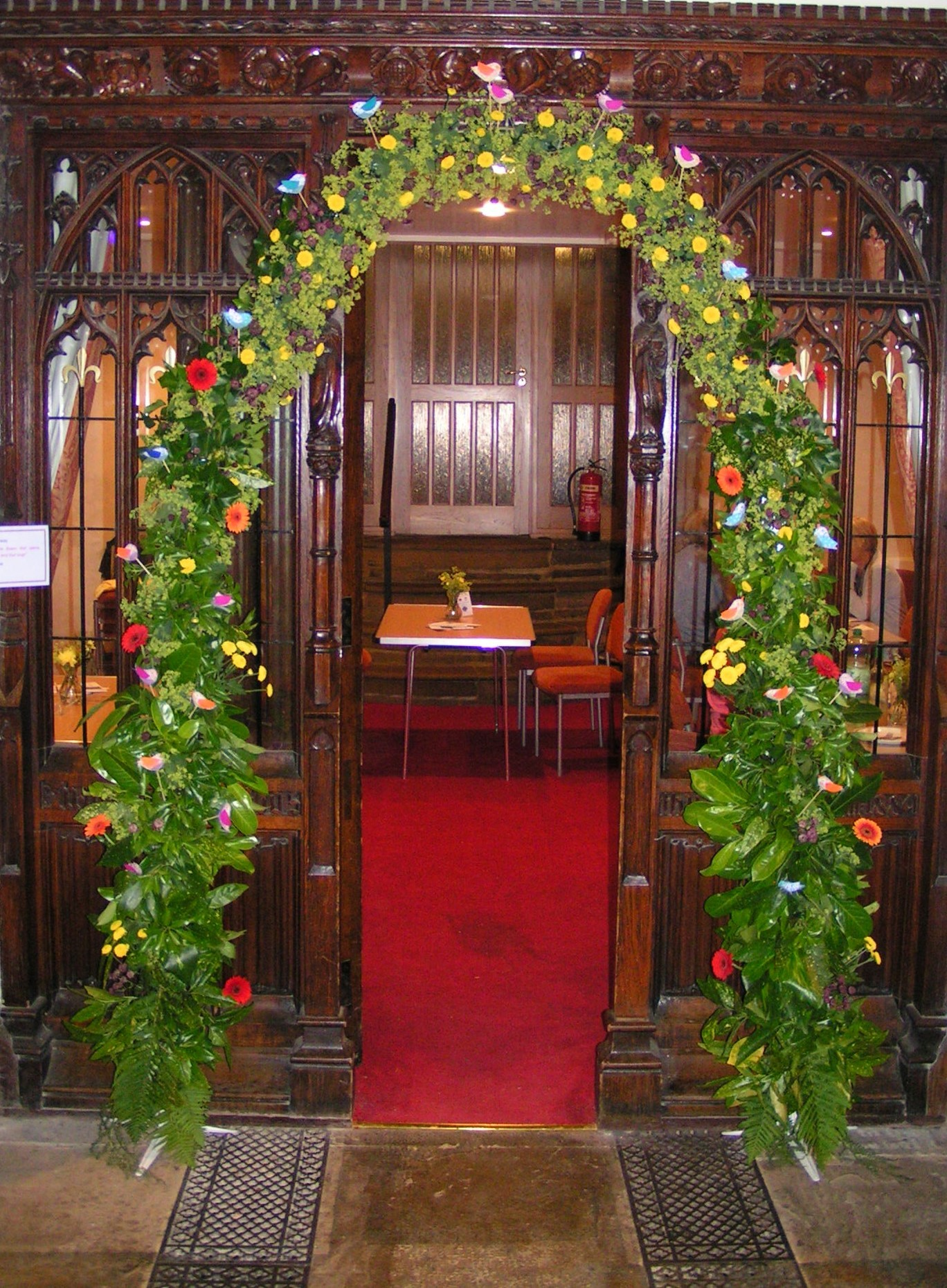 One of the displays from last year's Flower Festival at Otley All Saints Parish Church