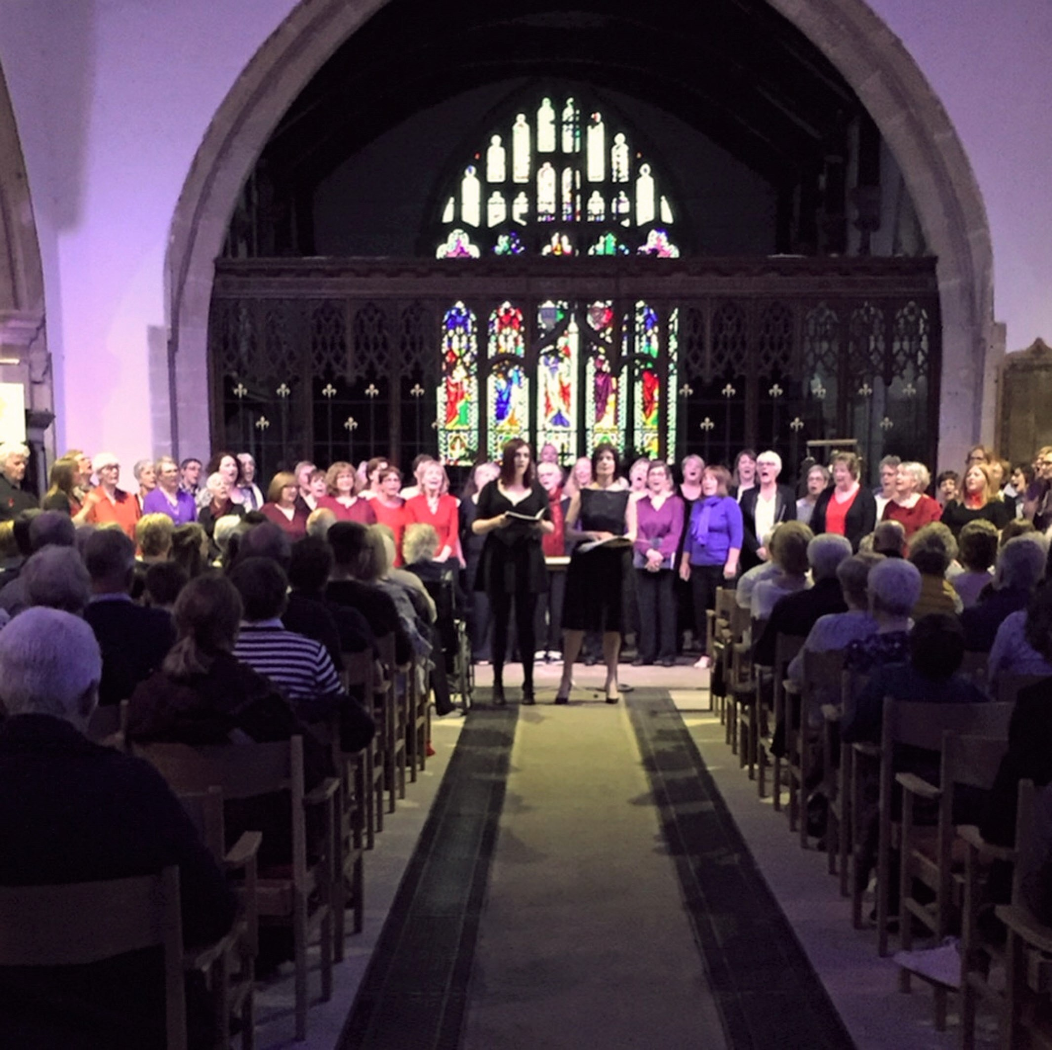 Performing together at Otley Parish Church to raise money for Singing for the Brain - Sally's Army and The Otley Singers