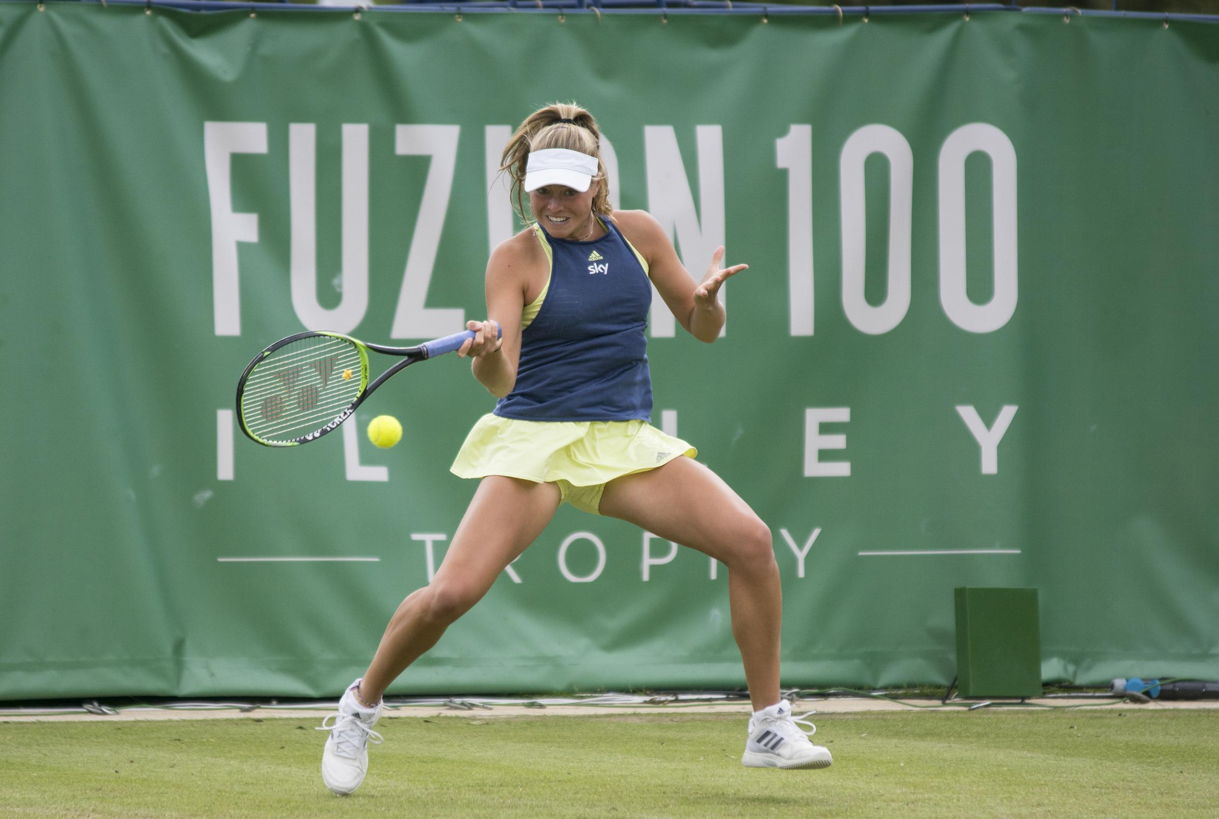 Emily Appleton in action at the Fuzion 100 Ilkley Trophy as she lost to Jaimee Fourlis from Australia  Picture: Ian Parker