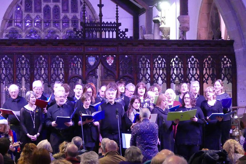 Otley A Cappella Choir performing at the 2017 Christmas Tree Festival