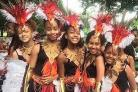 The RJC Dance troupe at the 2017 Leeds West Indian Carnival