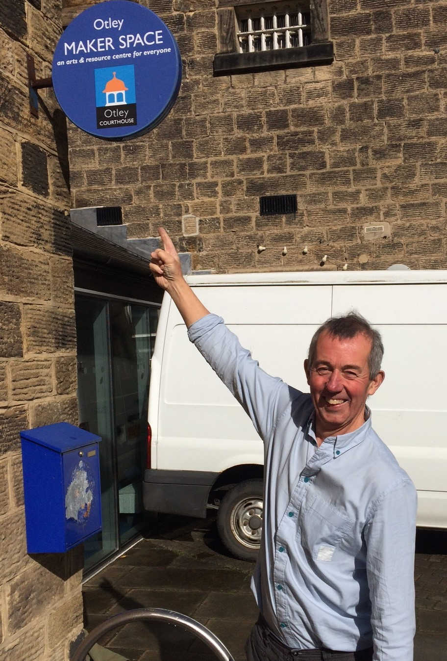 Looking forward to the opeining of Otley Maker Space - Otley Courthouse Chair David Robson