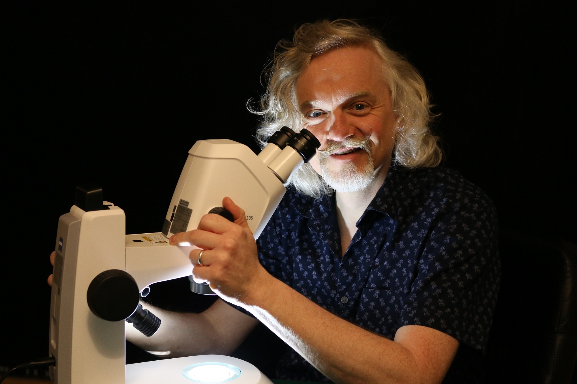Dr Marty Jopson is preparing to take Otley Science Festival visitors on a microscopic safari