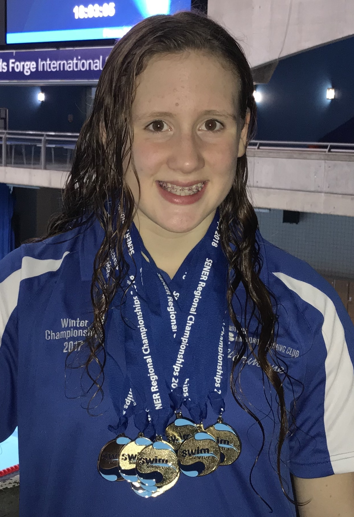 Hermione Roe, 13, of Addingham, collected a number of medals for City of Bradford at the North East Region Age Group Championships held at Ponds Forge, Sheffield