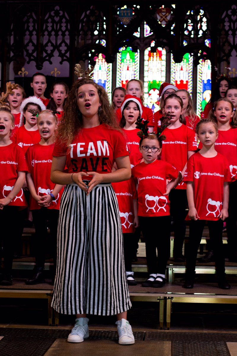Singing for Save the Children - Emeli Mumford witht he Dear Santa Choir. Huw Williams