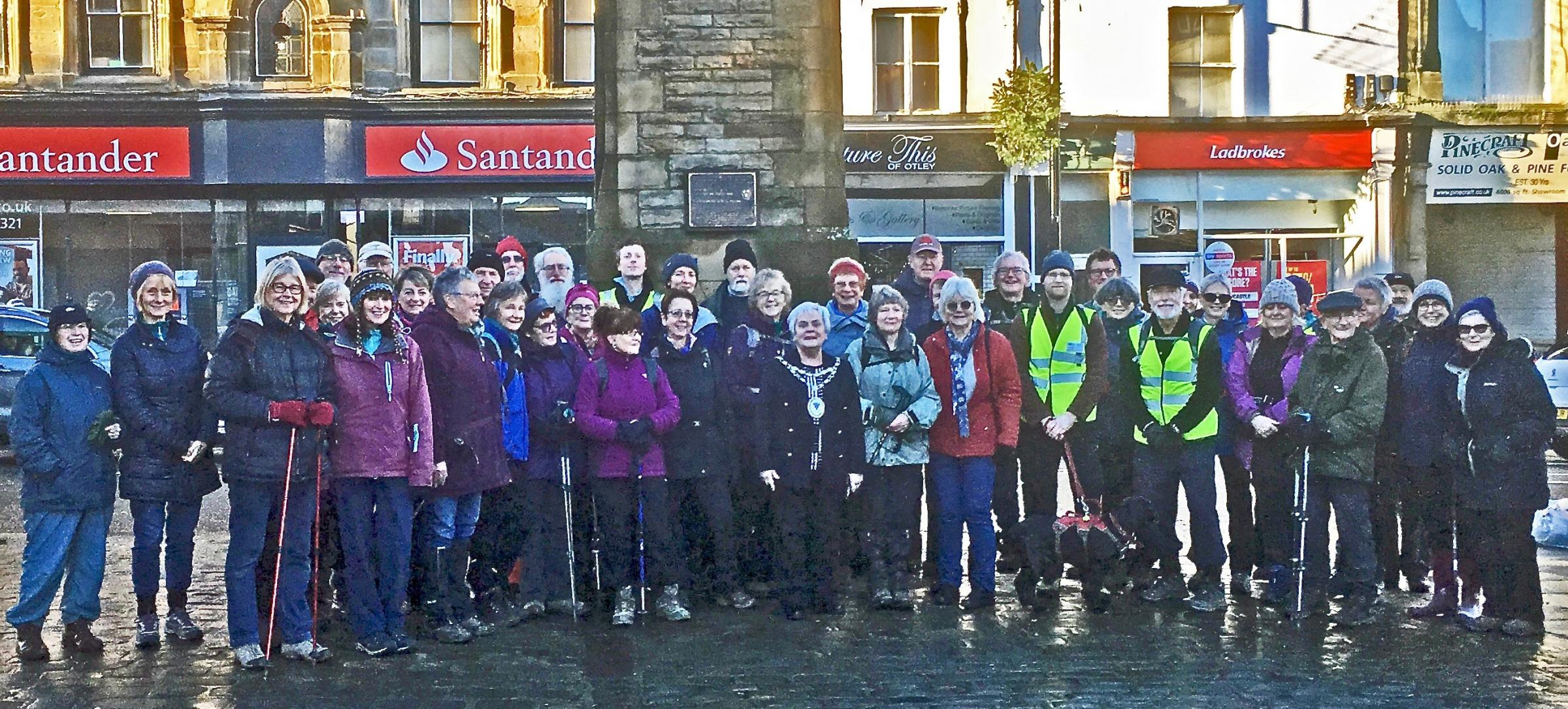 Walkers turned out in force at Otley to support domestic abuse charity Behind Closed Doors