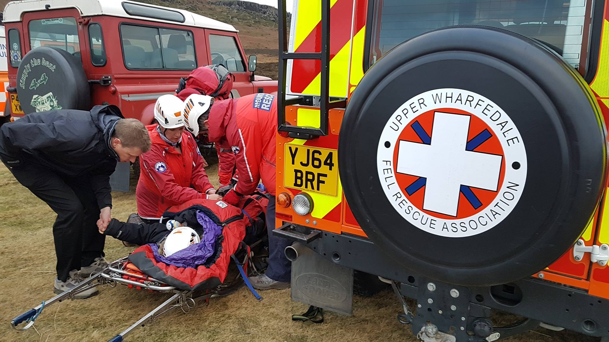 Upper Wharfedale Fell Rescue Association on Ilkley Moor on Friday, January 11. Photo courtesy of the Upper Wharfedale Fell Rescue Association