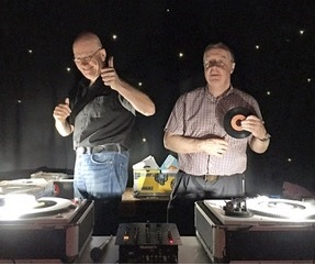 DJs Ian Smith (left) and Barry Innocenti at Ilkley Soul Club