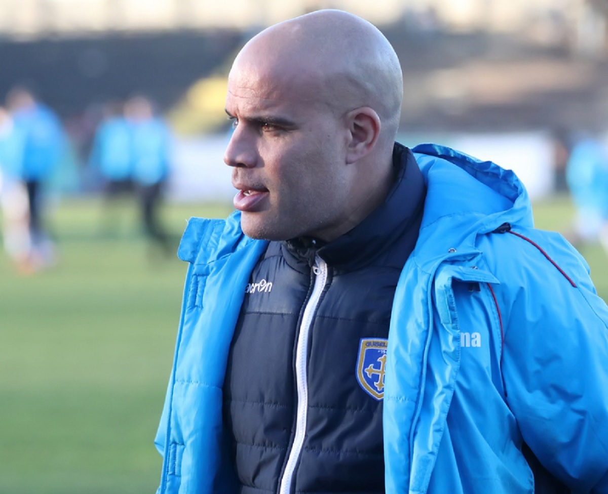 Guiseley joint-manager Marcus Bignot wants his side to build on their midweek victory when they host York City in the Vanarama National League North on Saturday. Picture: Alex Daniel Photography